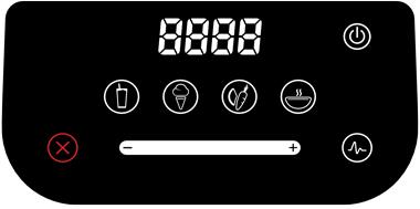 Blendtec Designer 625 touchscreen interface